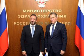 Михаил Мурашко обсудил вопросы двустороннего сотрудничества с госсекретарем Республики Сан-Марино